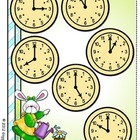 Puddle Jumpers Telling Time File Folder Game