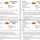 Pumhtpkin Pie Ziploc Recipe Cards