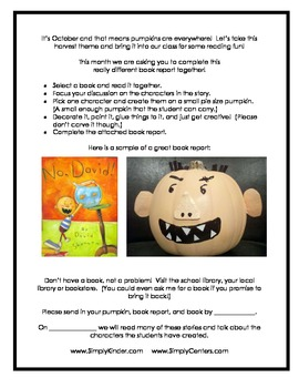 Pumpkin Book Report (Character)