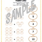 Pumpkin Count Math Worksheet
