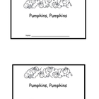 Pumpkin Emergent Reader- Mini Book