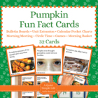 Pumpkin Fact Cards - Fun Unit Extension Activity, Bulletin