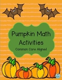 Pumpkin Math Activities: Glyphs, Graphing, and More! Commo