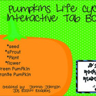 Pumpkin Life Cycle Tab Book