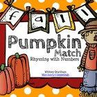 Pumpkin Match: Rhyming with Numbers