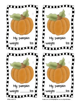 Pumpkin Math: Collect, Record, and Analyze Data