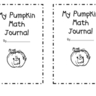 Pumpkin Math Journal