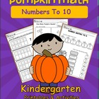 Pumpkin Math Numbers 1 to 10 for Fall
