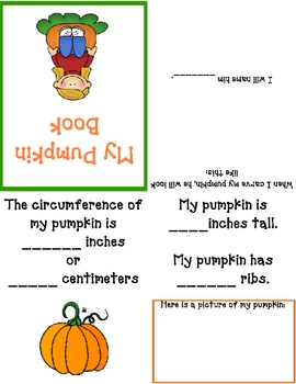 Pumpkin Measurement Foldable
