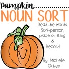 Pumpkin Noun Sort