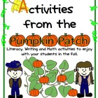 Pumpkin Patch Activities- Fall themed Activities and Centers!