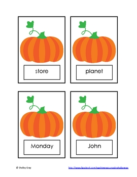 "Pumpkin Patch ""Common and Proper Noun Sort"" Literacy Center"