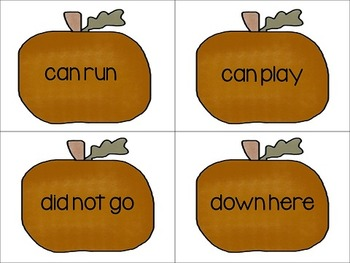 Pumpkin Patch Dolch Sight Word Phrases Activity Pack