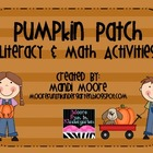 Pumpkin Patch Literacy & Math Activities