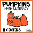 Pumpkin Patch Math and Literacy Work Stations
