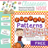 Pumpkin Pattern Task Cards - Numerical, Geometric, and Col