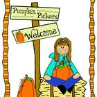 Pumpkin Pickers Clip Art