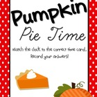 Pumpkin Pie Time- Telling time to the hour
