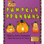 Pumpkin Pronouns in Color and Black & White
