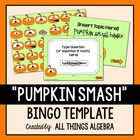 """Pumpkin Smash"" Bingo Game Template"