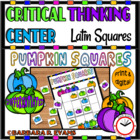 Pumpkin Squares -- Critical Thinking