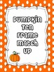 Pumpkin Ten Frame Match-Up