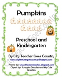 Letter P-Pumpkin Thematic Unit (51 pages) Lesson Ideas and