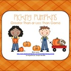 Pumpkin Theme Math Center Game {Greater Than Less Than}