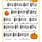 Pumpkin Treble Clef Notation Practice Worksheet