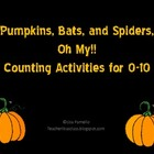 Pumpkins Bats and Spiders Oh My! Counting to 10