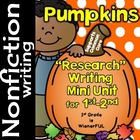 "Pumpkins ""Simple Research"" Writing Mini Unit ~ for 1st-2nd"