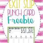 Punch Card Exit Slip