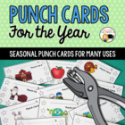 Punch Cards with Seasonal Designs