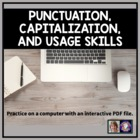 Punctuation, Capitalization, and Usage Skills Computer Quiz