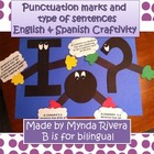 Punctuation Marks &amp; Type of Sentences English &amp; Spanish Cr