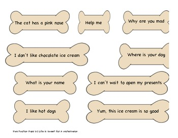 Punctuation Pups - A Literacy Center
