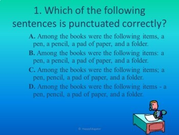 Punctuation Using Commas PowerPoint