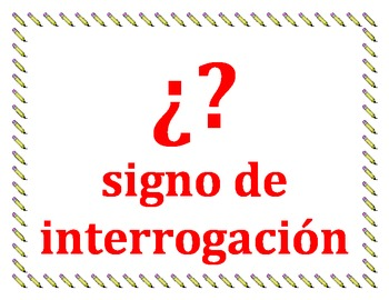 Punctuation in Spanish mini-posters