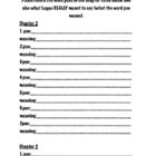 Punished! Guided Reading Comprehension Activities