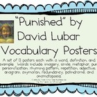 """Punished"", by David Lubar, Vocabulary Posters for the Book"