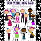 Punk School Kids Clip Art