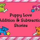 Puppy Love Addition and Subtraction Stories For Promethean Board