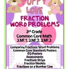 Puppy Love Fraction Word Problems - 3rd Grade Common Core