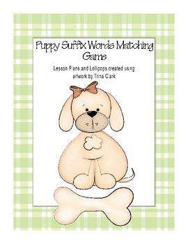 Puppy Suffix Words Matching Game