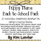 Puppy Theme Classroom Decor