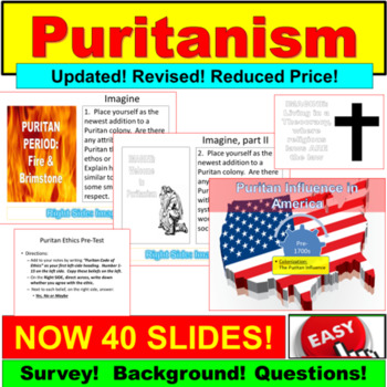 Puritanism : PowerPoint Notes, Introduction