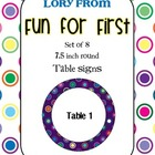 Purple Polka Dot Multi Table Signs