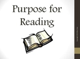 Purpose for Reading Reading Strategy PowerPoint