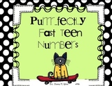 Purrr...fectly Fast TEEN Numbers 10-20 Great for Number Se