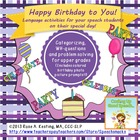 """Put a Candle on the Cake""--Happy Birthday Language Activities!"